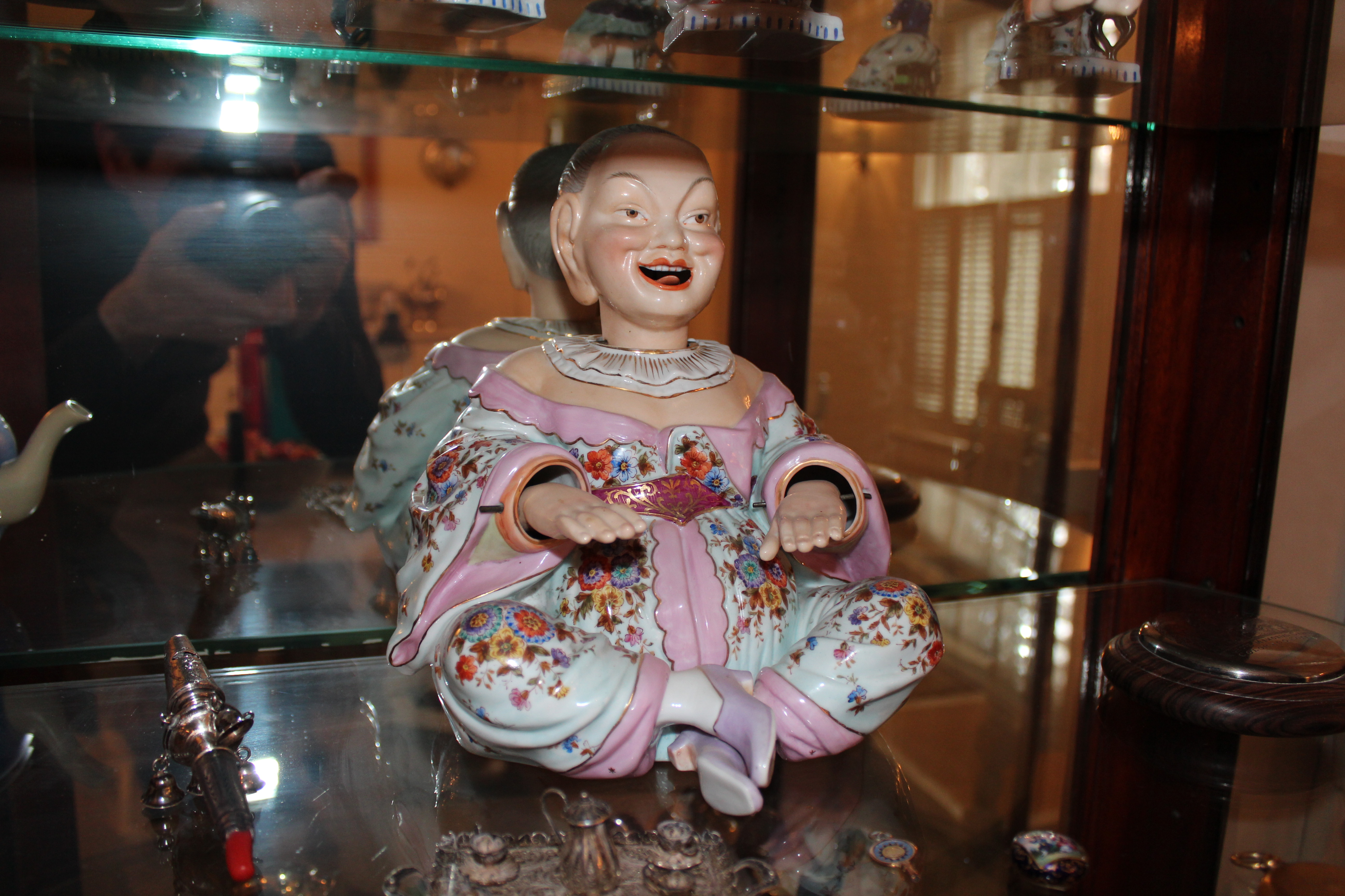 19th Century German Porcelain Chinese Nodder Man